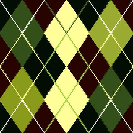 Vector green argyle pattern Vector