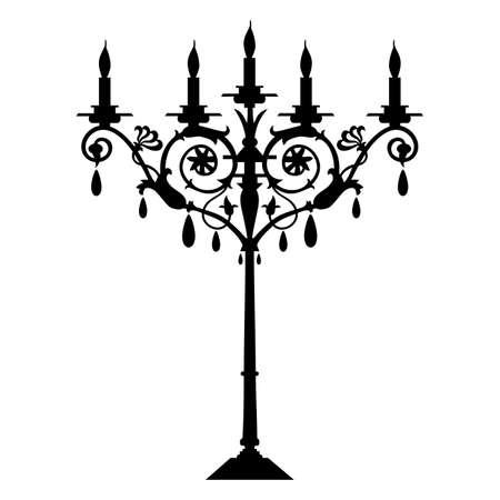 candelabra: candlestick
