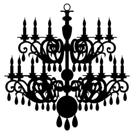 home product: chandelier silhouette