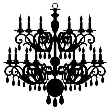 chandelier: chandelier silhouette
