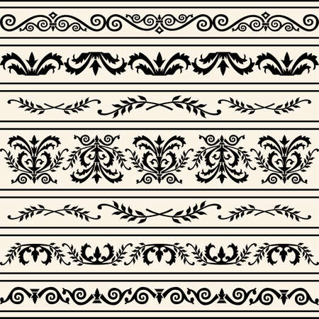 Set of vector borders Stock Vector - 6081365