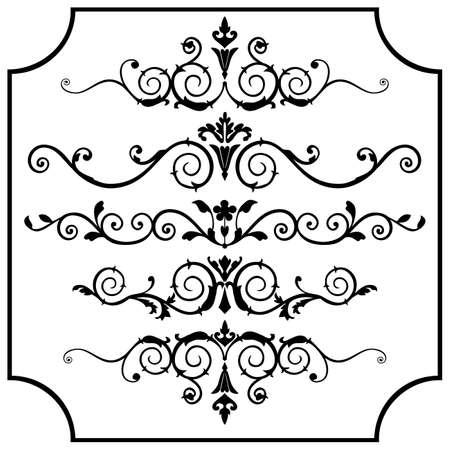 Vector ornaments set Illustration