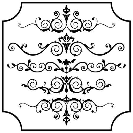 Vector ornaments set Illusztráció