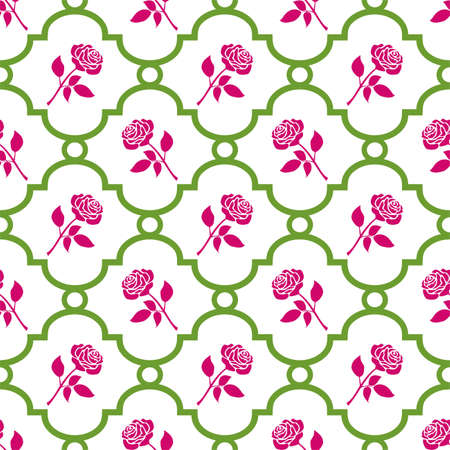 Roses seamless pattern Stock Vector - 6161361