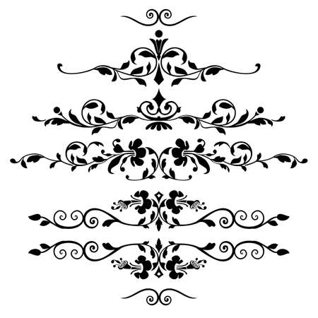Set of floral ornaments Illustration