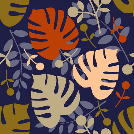 monstera: Monstera seamless pattern
