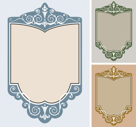 Set of  frames Stock Vector - 6290807