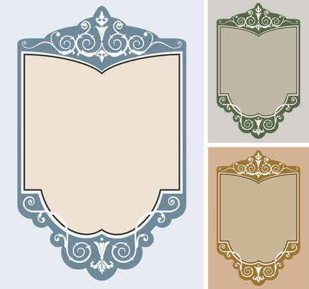 Set of  frames Stock Vector - 6290807