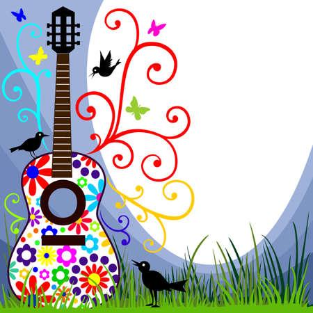 gitara: Gitara w łąki