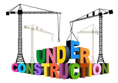bouwkraan: In aanbouw Stock Illustratie