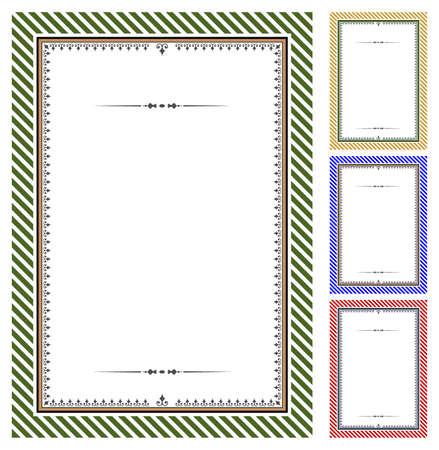 simple border: Set of certificates