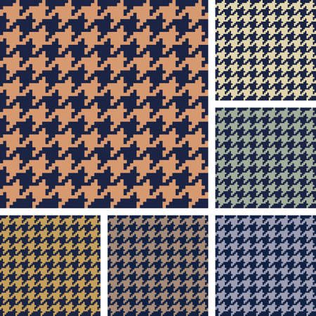 set of houndstooth pattern  Vector