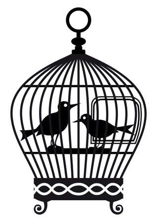 cages: Vintage birdcage