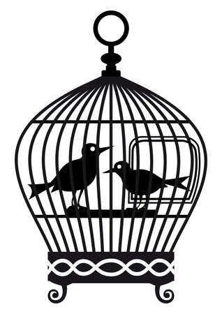lonely bird: Vintage birdcage