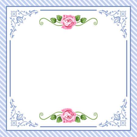 saludo: Vintage rosas  Vectores