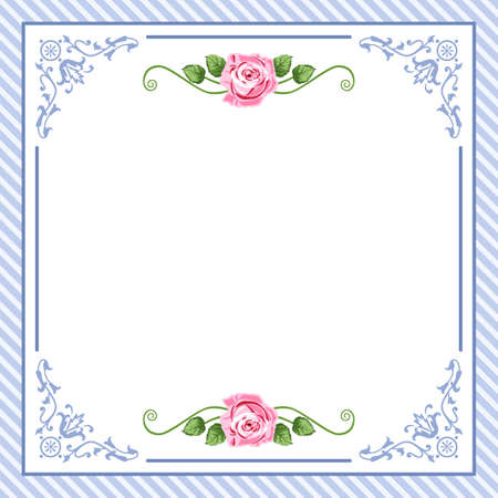 greeting card invitation wallpaper: vintage roses