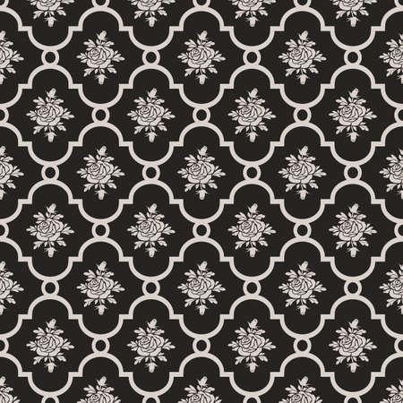 roses seamless pattern Ilustracja