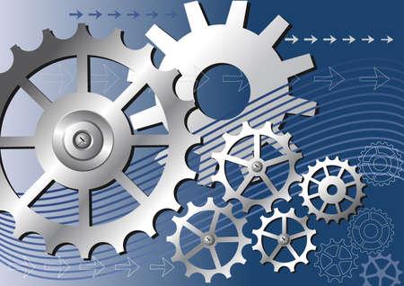 industry: mechanical background Illustration