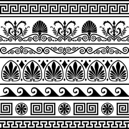 neocl�sico: Conjunto de bordes griegos antiguos