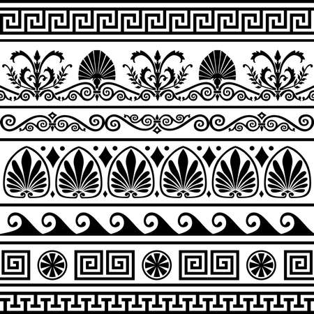Set of antique greek borders