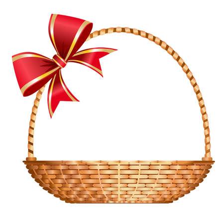 giftbasket: mand van de gift  Stock Illustratie