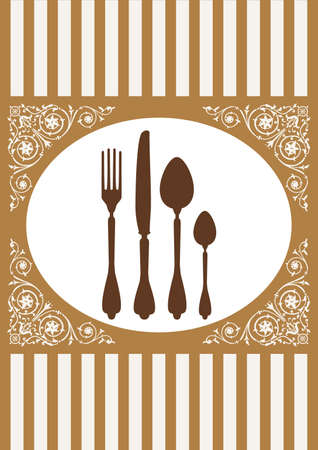 Menu of restaurant card Vector