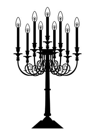 Candle silhouette Vector