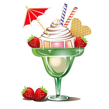 와플: 아이스크림 일러스트