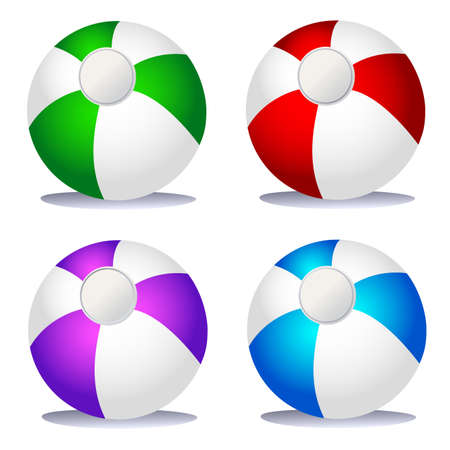 summer game: Set of coloured beach balls