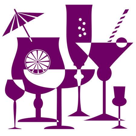 aperitif: Coctail glasses