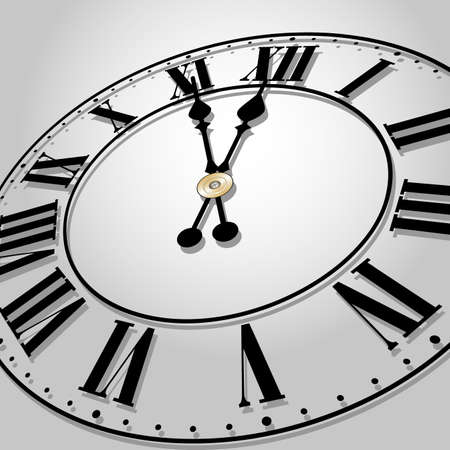 midnight hour: Time concept