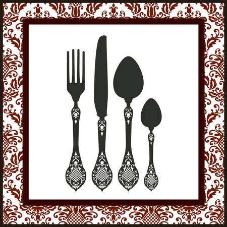 dinner party table: Cutlery