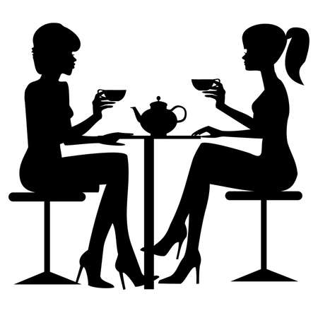 single woman: Tea time