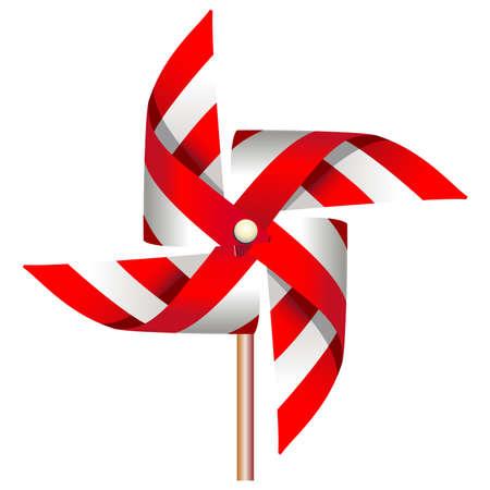 wind wheel: Mulino a vento rossa giocattolo
