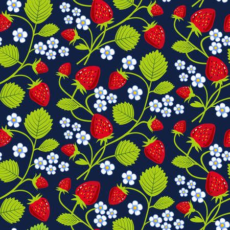 Arrière-plan de fraises