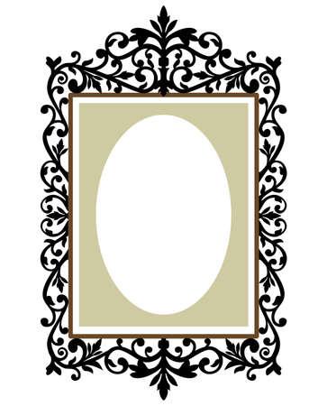 floral border frame: Ornate frame Illustration