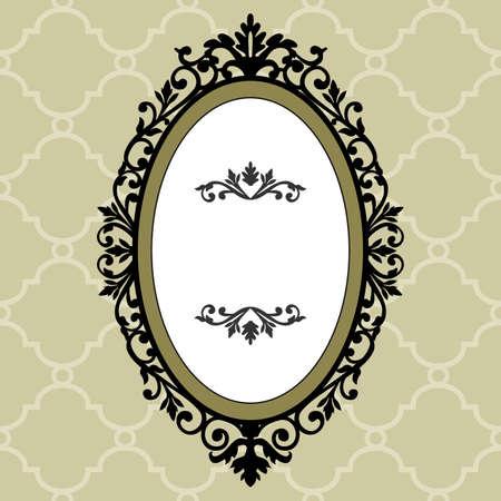 Cadre de vintage ovale décoratif Vecteurs