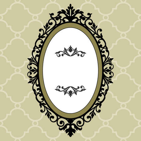 Marco decorativo de vintage oval  Ilustración de vector