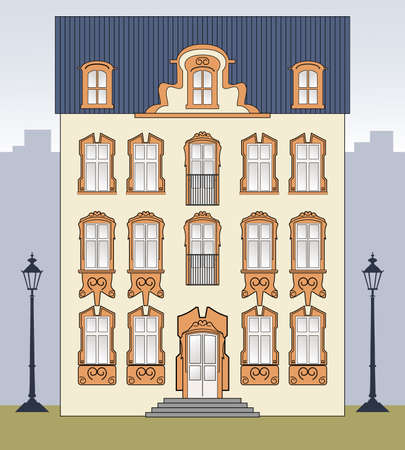 manor: Romantic old house Illustration
