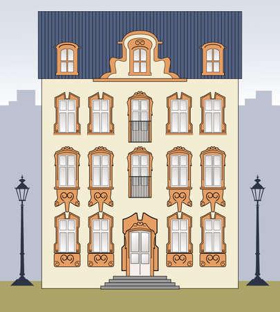 maison de maitre: Romantique vieille maison Illustration