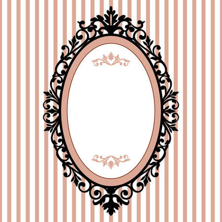 Decorative oval vintage frame Illustration