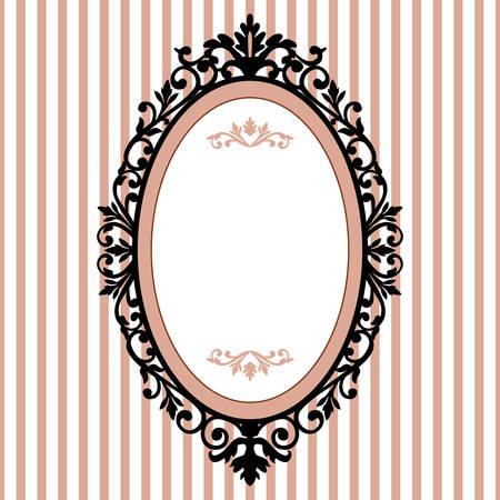 frame: Decorative oval vintage frame Illustration