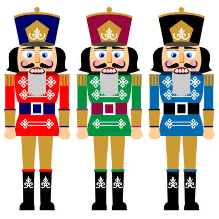 Set of christmas nutcracker Vector