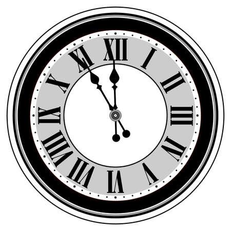 Antieke klok geïsoleerd