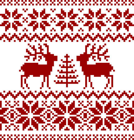 norwegian: Christmas norwegian pattern Illustration