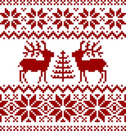 Christmas norwegian pattern Stock Vector - 8530882