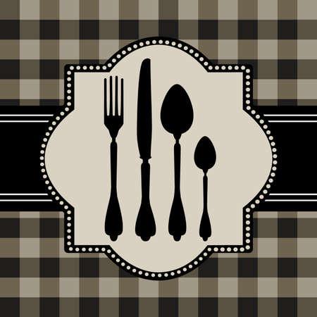dinner setting: Men� de tarjeta de alimentos