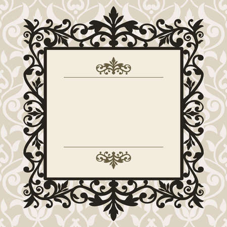 frame: Decorative vintage frame
