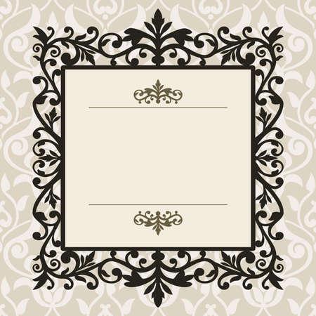 border vintage: Decorative vintage frame