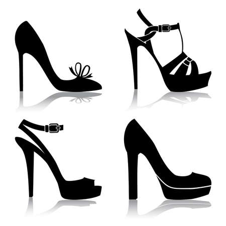 shoes model: Shoes collection Illustration